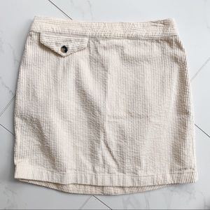 Urban Outfitters Cream Corduroy Skirt size S